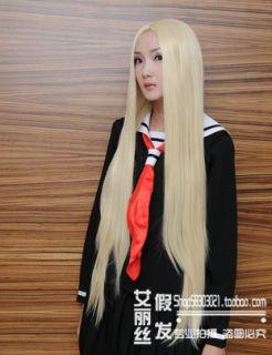 Hellsing Integra Pale Blonde Cosplay Wig Fasion Long Party Costum coser Hair