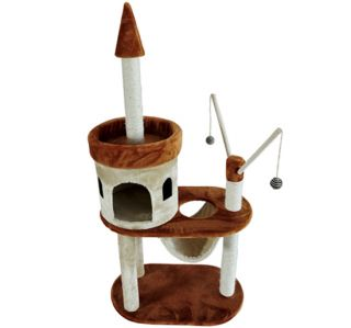 "New 55"" Pet Furniture Cat Tree Condo House Scratch Post Condo Tower Toy"