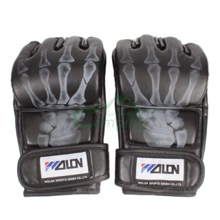 Hot Grappling MMA Gloves PU Punching Bag Training Boxing Gloves Black C579