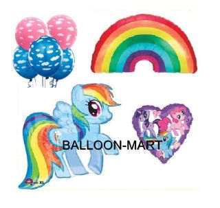 My Little Pony Balloons Set Birthday Party Supplies Rainbow Dash Pink Clouds