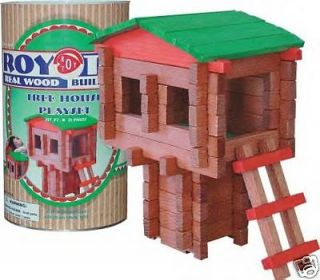 Roy Toy Logs Log Tree Cabin House Lincoln Canister 70