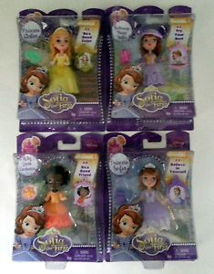 "Disney Jr Sofia The First Buttercup Troop Amber Ruby 3"" Figures Cake Topper New"