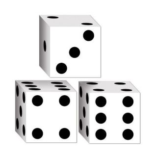 Casino Las Vegas Theme Party Pack of 3 Dice Favour Boxes