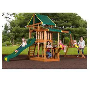 Wooden Play Swing Set