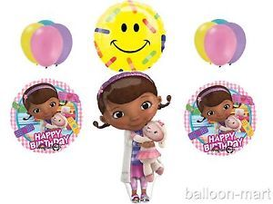 Doc McStuffins Balloons Set Birthday Party Supplies Bandaid Happy Face Get Well