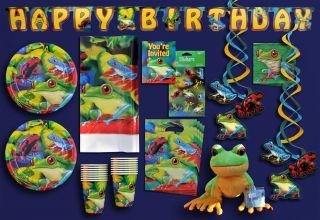 Tree Dart Frog Webkinz Rainforest Jungle Tropical Birthday Party Set Supplies