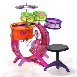 8pcs Drum Set Kit Girls Boys Kids Children Musical Band Instrument Toy Playset