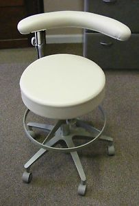 Marus Dental Doe Assistant's Stool Ultraleather Chair Beige Off White Cream