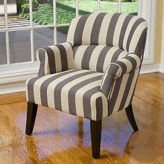 Christopher Knight Home Amelie Blue Stripe Fabric Club Chair