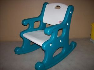 ... Little Tikes Child Size Blue Victorian Country Rocking Chair Rocker  Mint ...