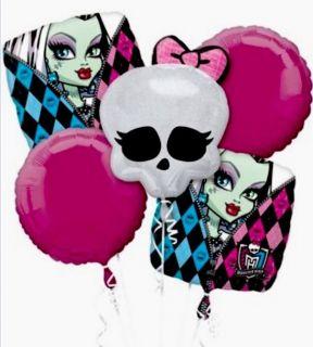Monster High Skullette Zebra Giant Balloon Bouquet Birthday Party Decorations