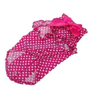 Pet Dog Puppy Ruffle Shirt Clothes Apparel Clothing w Hearts Pattern Size s Hot