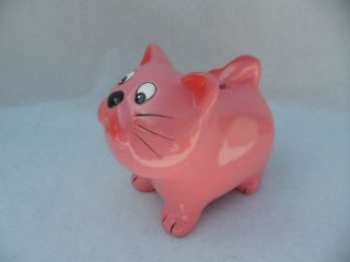 Ceramic Money Bank Box Piggy Bank in Cat Shape Colours Kids Safe Money Training