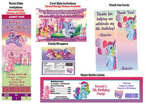 My Little Pony Pinkie Pie Birthday Party Ticket Invitations Supplies Favors