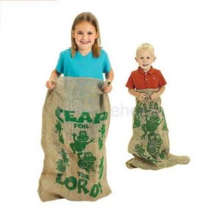 Learn and Play Fun Outdoor Backyard Kids Potato Sack Race Games Bag 35x24 Inch