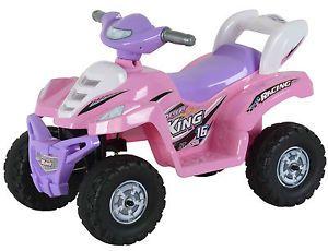 Pink Princess Lil Kids Quad Ride on Car Four Wheeler 6V Battery Powered Quad ATV