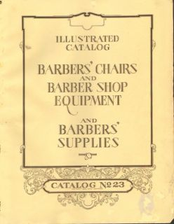 1930 Conner Walters Koken Catalog No 23 on CD Barber Chairs and Lots More