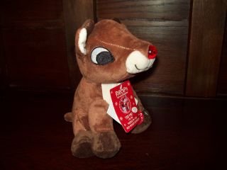 "Dan Dee 7"" Nose Lights Up Plays Rudolph Red Nosed Reindeer Plush Toy Doll"