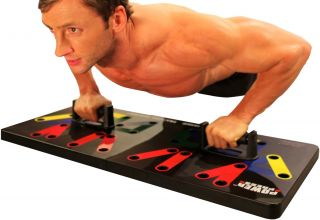 Power Press Push Up Board Training System Chest Shoulders Back Triceps Muscles
