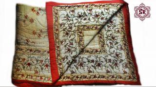 """Soft Handmade Indian Cotton Édredon 58""""X88"""" Sanganeri Queen Quilt Rajai Razai"""