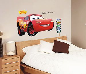 Disney Car Kids Wall Decals PVC Removable Home Wall Stickers Room Wall 50 110cm