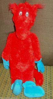 """Kohl's Cares for Kids Dr Seuss Fox in Socks Plush Stuffed Animal 18"""" Kohls Red"""