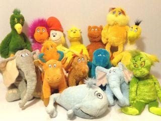 Dr Seuss Kohls Cares for Kids Huge Lot Plush Stuffed Animal Excellent