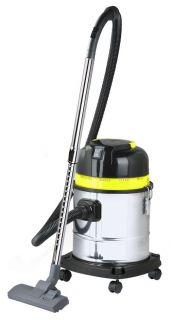 20L Wet Dry Cylinder Vacuum Cleaner Metal Bagless Hoover Cyclone Cyclonic Wheel
