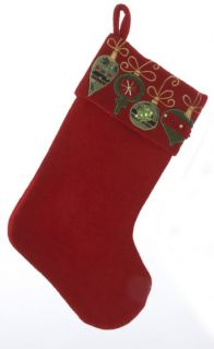 """19""""Christmas Tree Bright Red Stocking Beautifully Design with Its Ornaments"""