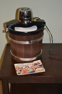 Vintage Montgomery Ward Electric Ice Cream Maker 6 Qt Bucket w Manual