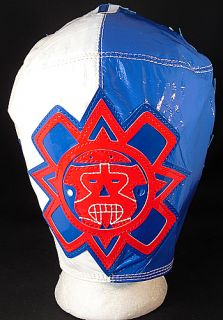 Rey Mysterio WWE Blue White Kid Sized Replica Wrestling Mask