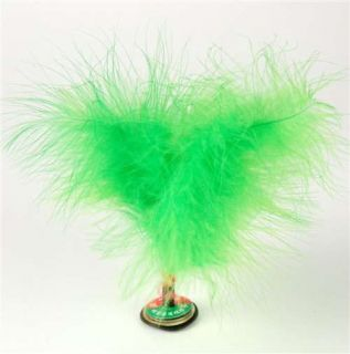 Chinese Jianzi Green Feather Kicker Toy Hack Sack Kids Party Game Shuttlecock