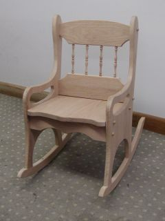 Unfinished Oak Childs Rocking Chair Made in USA Kids Rocker ...