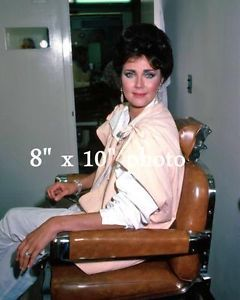 Lynda Carter Wonder Woman in Make Up Barber Chair