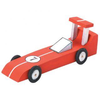 Wood Model Kit Race Car Toy Kids Craft New