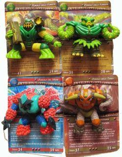 Gormiti Figures Titanium Serie Giochi Figure Action Toy RARE U RARE New 4pc