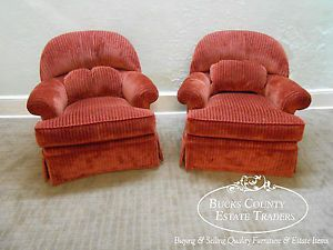 R Jones Dallas Quality Pair of Upholstered Living Room Chairs
