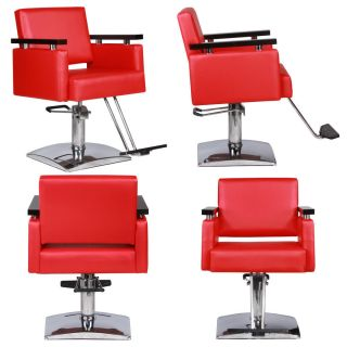 New Red Salon Beauty Equipment Hydraulic Styling Chair Package 4 SC 10rd