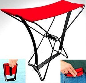 Folding Camping Pocket Beach Chair Fishing Stool Portable Foldable Seat 006665