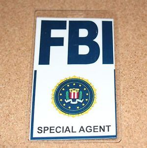 FBI ID ID Badge Cosplay Costume Special Agent
