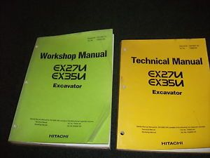 Hitachi EX27U EX35U Workshop Technical Manual