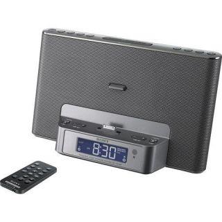 Sony iPod iPhone Speaker Dock Dual Alarm Clock with Am FM Stereo Radio Tuner