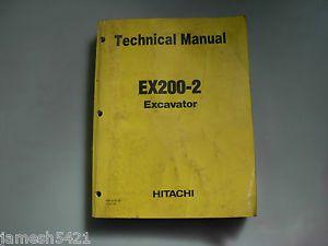 Hitachi EX200 2 Excavator Technical Service Manual