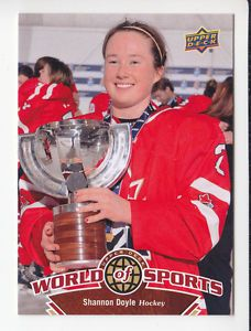 Shannon Doyle Team Canada Hockey 2010 Upper Deck World of Sports Card 176