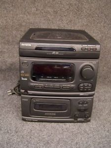 Aiwa Model CX N4000U Home Audio 3 CD Compact Disc Changer Stereo System Tested