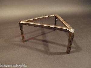Antique 18th C Forged Wrought Iron Cooking Trivet Hearth Fireplace Tool