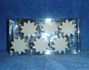 12 Snowflake Shower Curtain Hooks New In Box