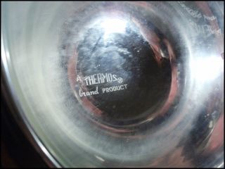 Vtg Mid Century Cherry Red Apple Ice Bucket Thermos Anodized Aluminum Apollo NY