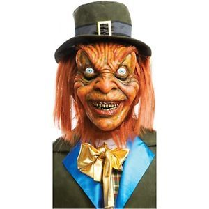 Leprechaun Mask Adult Scary Monster Horror Movie Halloween Costume Accessory