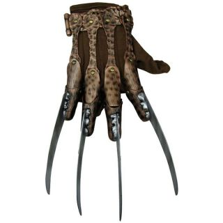 Deluxe Freddy Krueger Glove Adult Mens Scary Horror Halloween Costume Accessory